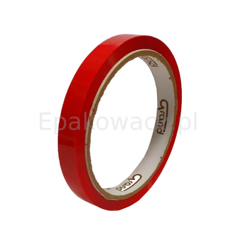 Taśma do zaklejarki 12mm x 50m czerwona