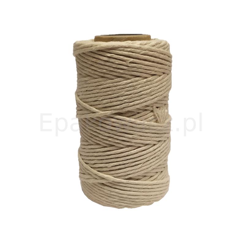 Sznurek bawełniany  biały 100g (50mb)
