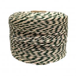 Sznurek bawełniany biało-zielony 500g (300mb)