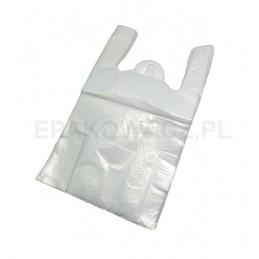 Reklamówka HDPE 28/50 biała poniżej 15 mic