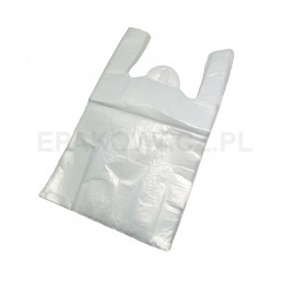 Reklamówka HDPE 35/65 biała poniżej 15 mic