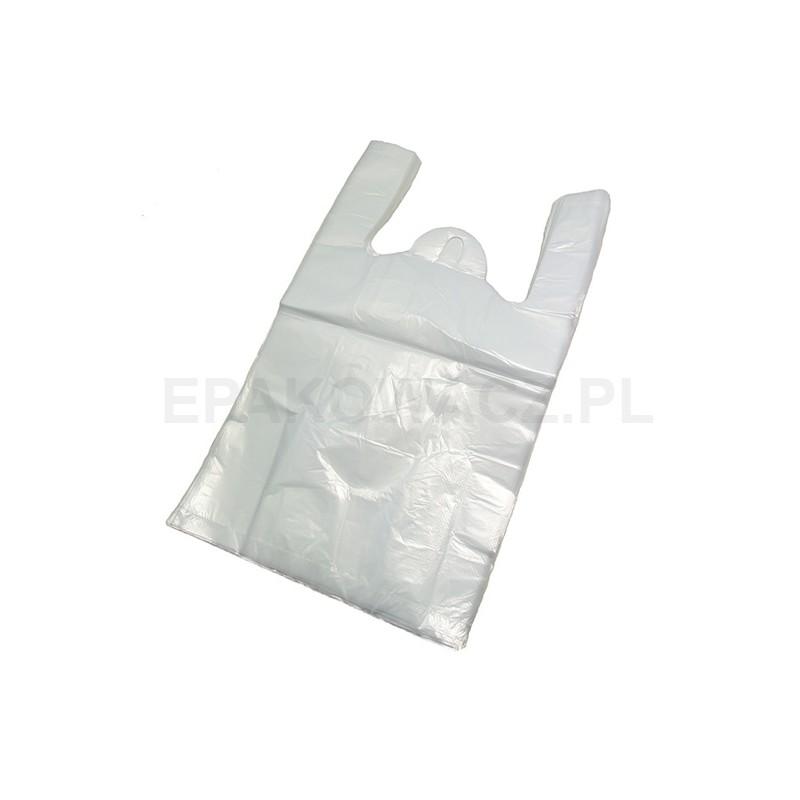 Reklamówka HDPE 30/55 biała poniżej 15 mic