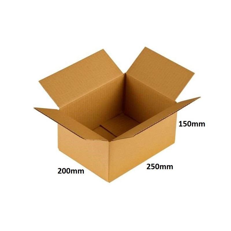 Karton klapowy 250x200x150 /200 szt./, 3w, 380g