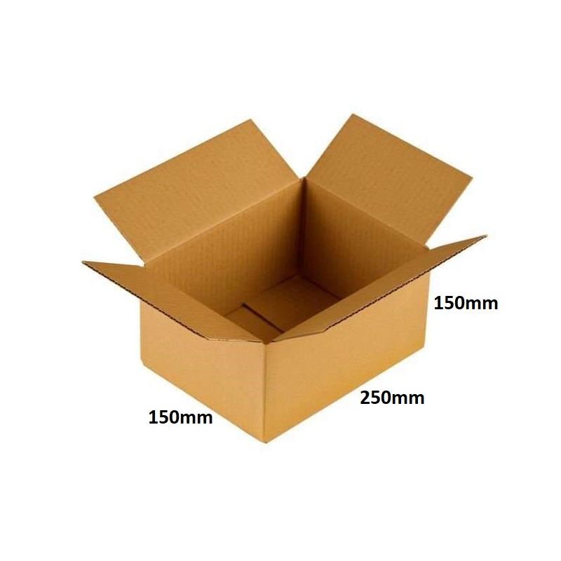 Karton klapowy 250x150x150 /20 szt./, 3w, 380g