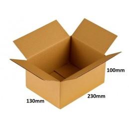 Karton klapowy 230x130x100 /400 szt./, 3w, 380g