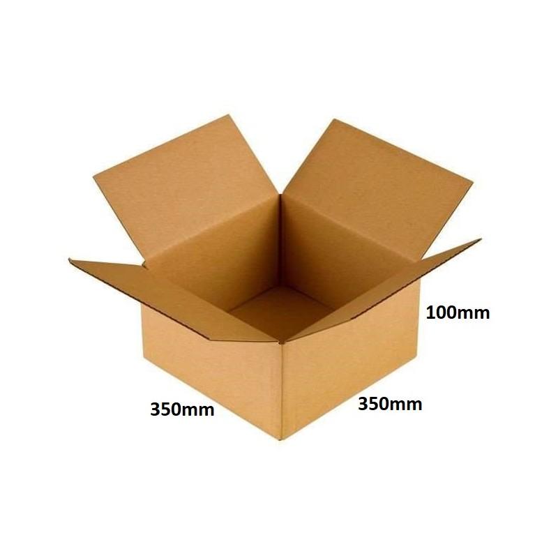 Karton klapowy 350x350x100 /100 szt./, 3w, 410g