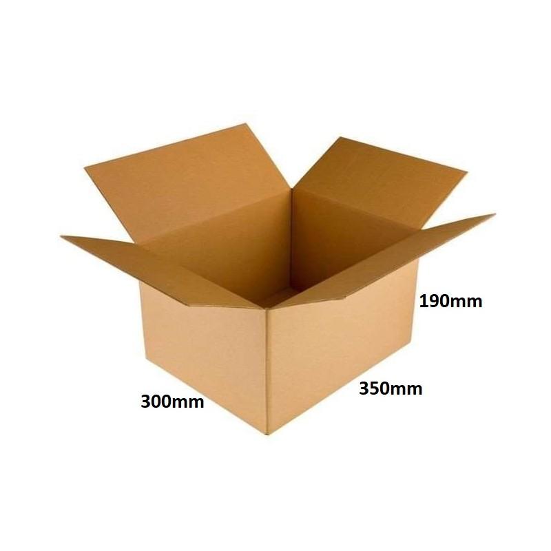 Karton klapowy 350x300x190 /100 szt./, 3w, 410g, InPost