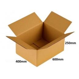 Karton klapowy 600x400x250 /40 szt./, 3w, 540g