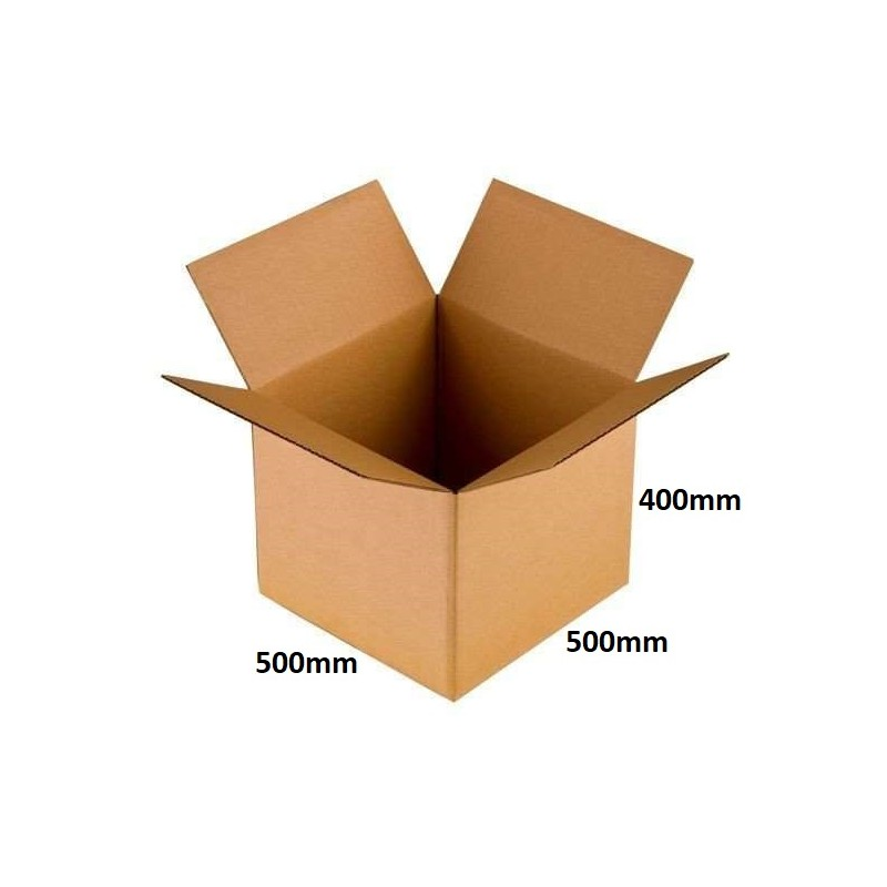 Karton klapowy 500x500x400 /20 szt./, 5w, 590g