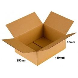 Karton klapowy 450x350x80 /100 szt./, 3w, 380g, InPost