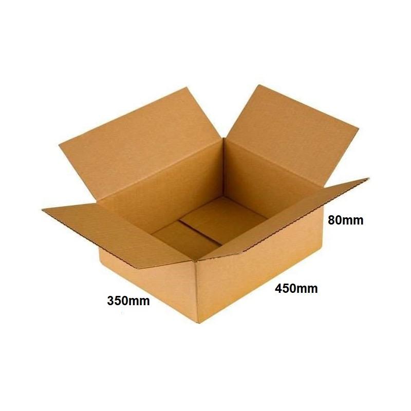 Karton klapowy 450x350x80 /20 szt./, 3w, 380g, InPost