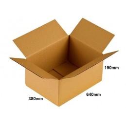 Karton klapowy 640x380x190 /60 szt./, 3w, 410g, InPost