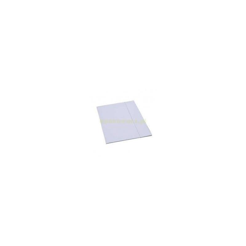Teczka tekturowa z gumką biała