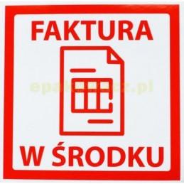 Etykiety FAKTURA W ŚRODKU - 100 szt.