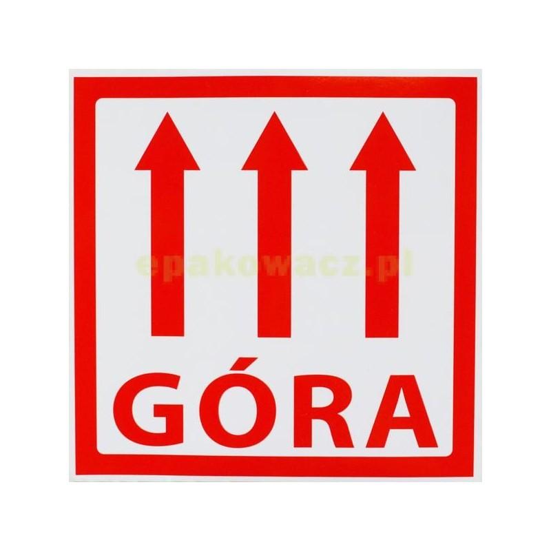 Etykiety samoprzylepne GÓRA - 1000 szt.