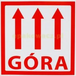 Etykiety samoprzylepne GÓRA...