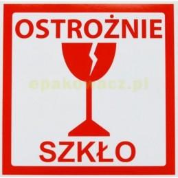 Etykiety samoprzylepne OSTR SZKŁO - 1000 szt.
